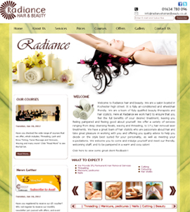 Radiance Hair and Beauty Website Design Service