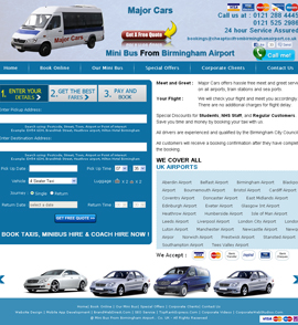 Mini Bus From Birmingham Airport - CMS Enabled Web Design