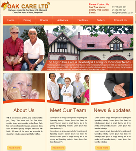 Oak Care Limited - Website for Old Age Care Home