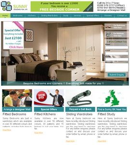 Sunny Bedrooms & Kitchens - CMS Web Design