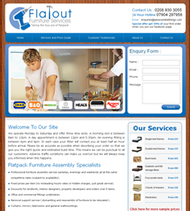 Flatout Furniture Services  Website Design