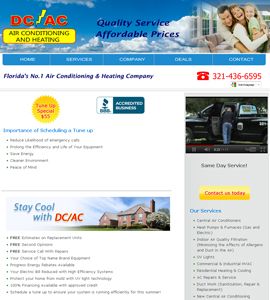 DC AC Air & Heat - USA Website Design