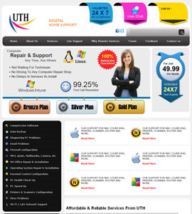 Urgent Tech Help Online Brochure Website Design
