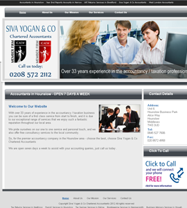Siva Yogan Online Brochure Website Design